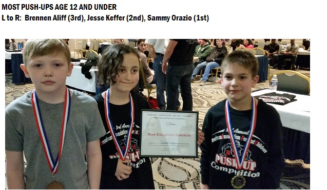 Age 12 and under winners